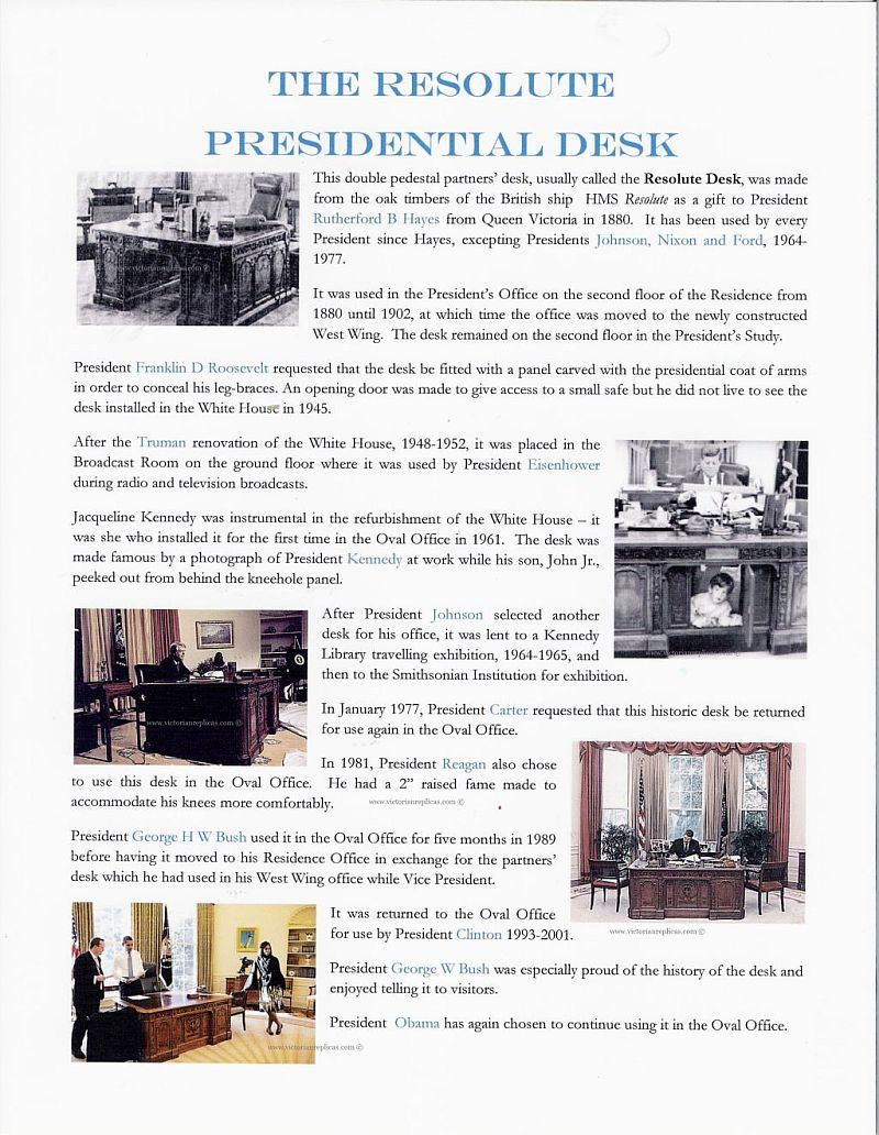 History of the Resolute Desk