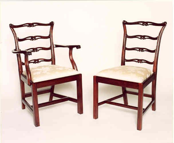 Ch017 ladderback chippendale dining chairs